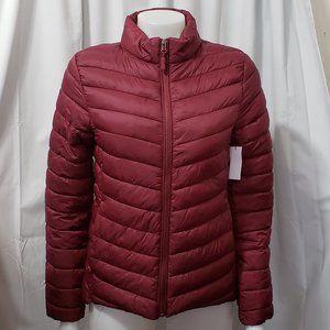Ladies Burgundy Puffer Jacket NWT